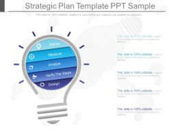One Strategic Plan Template Ppt Sample