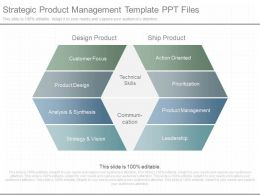 One Strategic Product Management Template Ppt Files