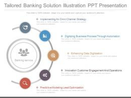One Tailored Banking Solution Illustration Ppt Presentation