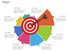 one Target Board With Semicircle Chart Flat Powerpoint Design