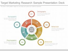 One Target Marketing Research Sample Presentation Deck