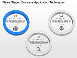 one Three Staged Business Application Techniques Powerpoint Template