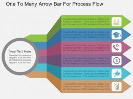 one_to_many_arrow_bar_for_process_flow_flat_powerpoint_design_Slide01