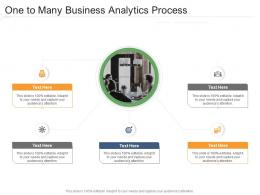 One To Many Business Analytics Process Infographic Template