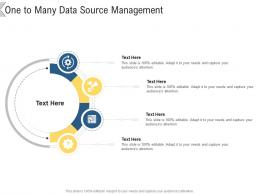 One To Many Data Source Management Infographic Template