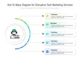 One To Many Diagram For Disruptive Tech Marketing Services Infographic Template