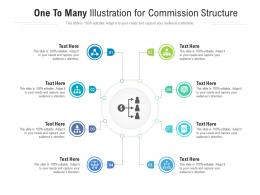 One To Many Illustration For Commission Structure Infographic Template