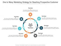 One To Many Marketing Strategy For Reaching Prospective Customer Infographic Template