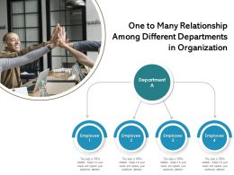 One To Many Relationship Among Different Departments In Organization