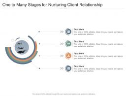 One To Many Stages For Nurturing Client Relationship Infographic Template