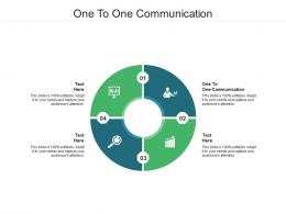 One To One Communication Ppt Powerpoint Presentation Professional Gallery Cpb