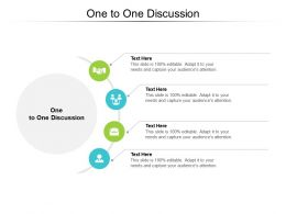 One To One Discussion Ppt Powerpoint Presentation Infographic Template Guidelines Cpb
