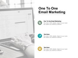 One To One Email Marketing Ppt Powerpoint Presentation Professional Design Ideas Cpb