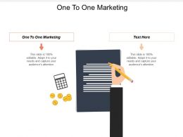 One TO One Marketing Ppt Powerpoint Presentation Outline Master Slide Cpb