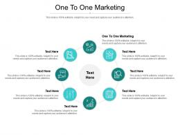 One To One Marketing Ppt Powerpoint Presentation Styles Grid Cpb