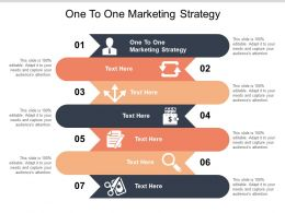 One To One Marketing Strategy Ppt Powerpoint Presentation Layouts Examples Cpb