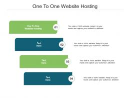 One To One Website Hosting Ppt Powerpoint Presentation Show Cpb