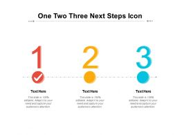 One Two Three Next Steps Icon