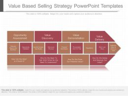 One Value Based Selling Strategy Powerpoint Templates