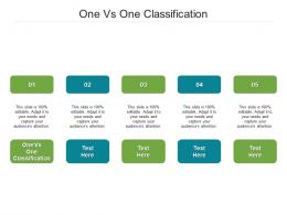 One Vs One Classification Ppt Powerpoint Presentation Example 2015 Cpb
