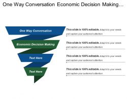 One Way Conversation Economic Decision Making Professional Content