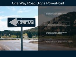 One Way Road Signs Powerpoint