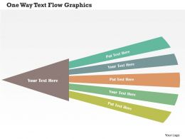 One Way Text Flow Graphics Flat Powerpoint Design