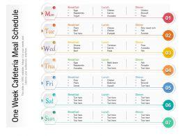 One Week Cafeteria Meal Schedule