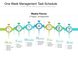 One Week Management Task Schedule