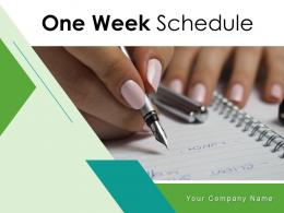 One Week Schedule Business Management Marketing Department Operations
