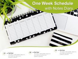 One Week Schedule With Notes Diary