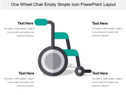 One Wheel Chair Empty Simple Icon Powerpoint Layout