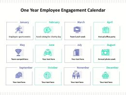 One Year Employee Engagement Calendar