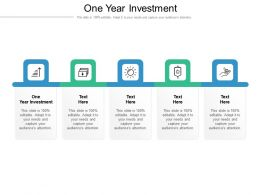 One Year Investment Ppt Powerpoint Presentation Gallery Deck Cpb