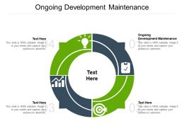 Ongoing Development Maintenance Ppt Powerpoint Presentation Layouts Example File Cpb