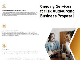 Ongoing Services For HR Outsourcing Business Proposal Ppt Powerpoint Presentation Layouts