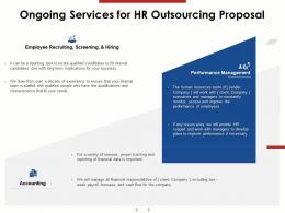 Ongoing Services For HR Outsourcing Proposal Ppt Powerpoint Presentation Summary