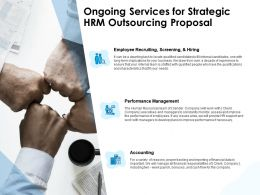 Ongoing Services For Strategic HRM Outsourcing Proposal Ppt Layouts Icon