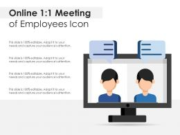 Online 1 1 Meeting Of Employees Icon