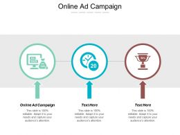 Online Ad Campaign Ppt Powerpoint Presentation Gallery Clipart Cpb