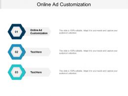 Online Ad Customization Ppt Powerpoint Presentation Portfolio Grid Cpb