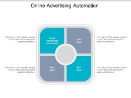 Online Advertising Automation Ppt Powerpoint Presentation Ideas Background Cpb