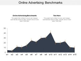 Online Advertising Benchmarks Ppt Powerpoint Presentation File Designs Download Cpb