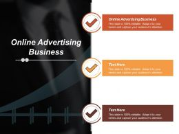 Online Advertising Business Ppt Powerpoint Presentation Gallery Background Cpb