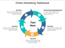 Online Advertising Dashboard Ppt Powerpoint Presentation File Aids Cpb