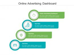 Online Advertising Dashboard Ppt Powerpoint Presentation Infographics Infographic Template Cpb