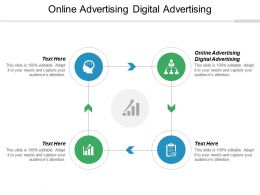 Online Advertising Digital Advertising Ppt Powerpoint Presentation Icon Grid Cpb