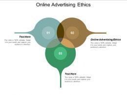 Online Advertising Ethics Ppt Powerpoint Presentation File Brochure Cpb