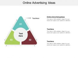 Online Advertising Ideas Ppt Powerpoint Presentation Infographic Template Visuals Cpb