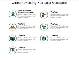Online Advertising KPIS Lead Generation Ppt Powerpoint Presentation Outline Example Cpb